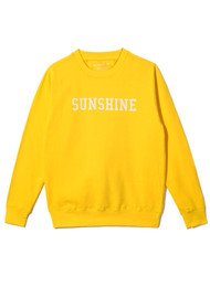ON THE RISE Sunshine Sweatshirt - Yellow & White