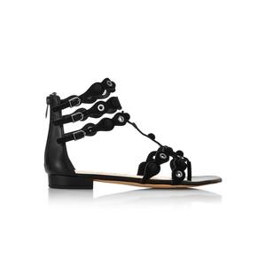 Desi Suede Sandals - Black