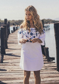 PAMPELONE Jasmine Mini Dress - White