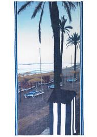 Becksondergaard Blue Beach Wool Scarf - Campanula