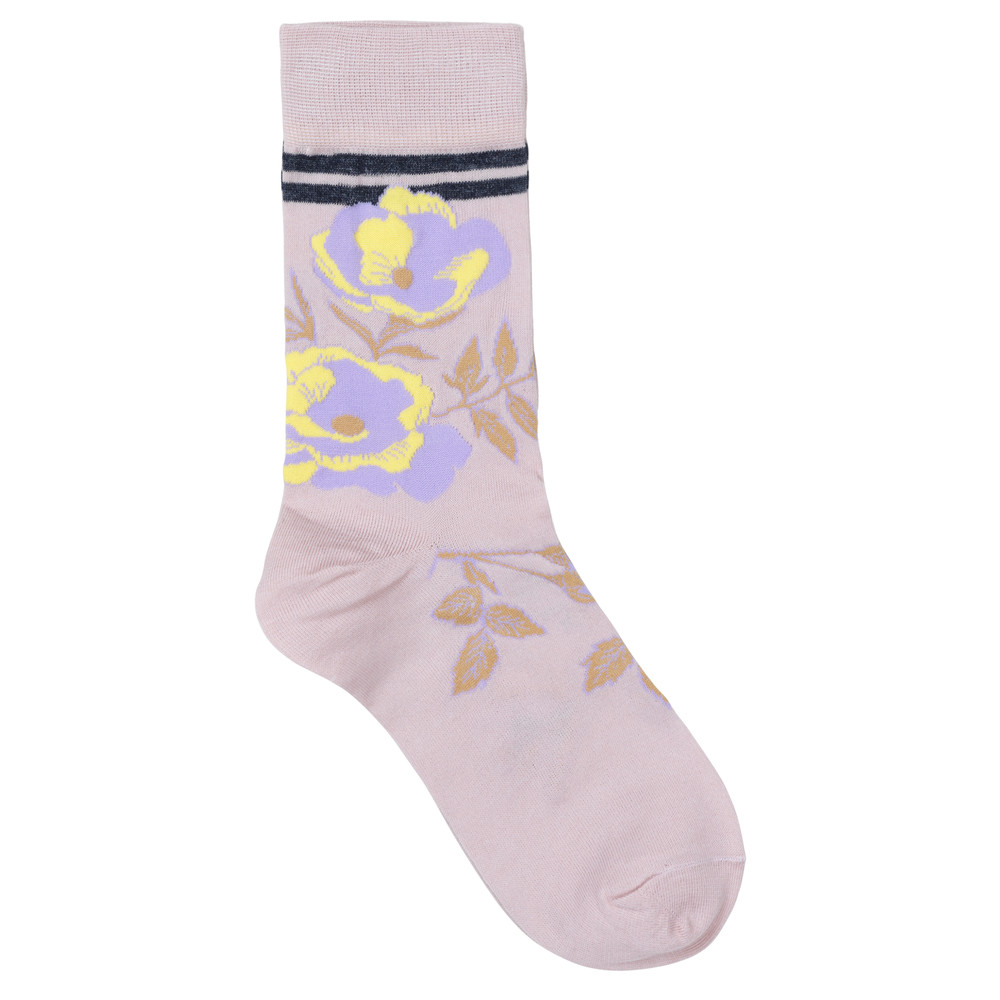 Daphne Sporty Flower Socks - Nude Shadow