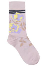 Becksondergaard Daphne Sporty Flower Socks - Nude Shadow