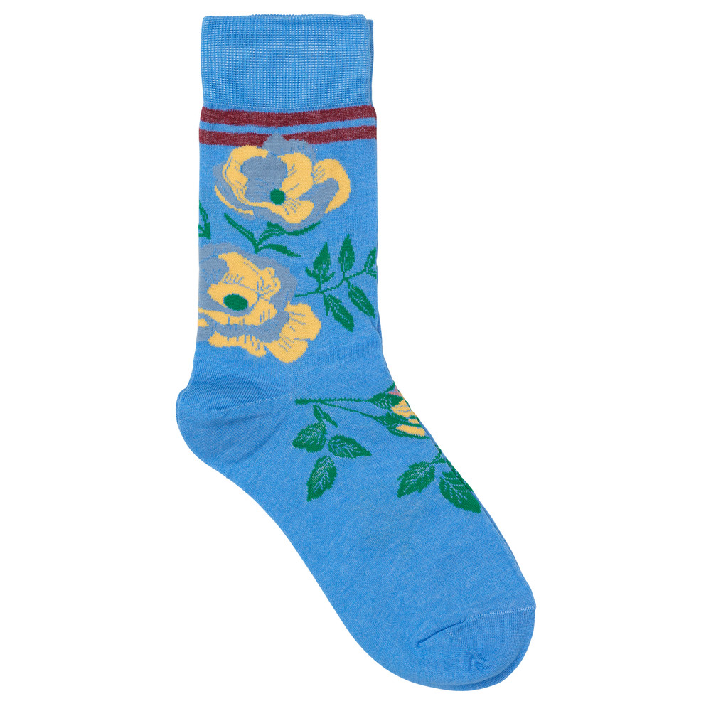 Daphne Sporty Flower Socks - Campanula