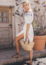 PAMPELONE Jasmine Midi Dress - White