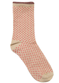 Becksondergaard Dina Small Dots Socks - Pink Yarrow