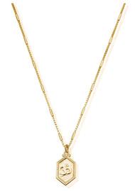 ChloBo Cherabella Tranquil Om Necklace - Gold