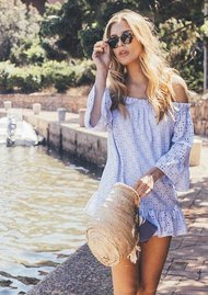 PAMPELONE Provence Tunic Dress - Blue