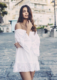 PAMPELONE Provence Tunic Dress - White