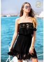LINDSEY BROWN Atheni Bandeau Dress - Black & Rose Gold