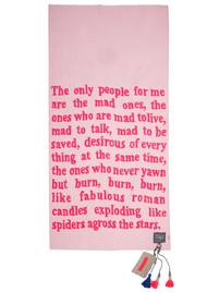 KARIEN BELLE Woolen Plain Poetry Scarf - Neon Pink & Baby Pink