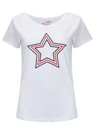 ON THE RISE Concentric Stars Tee - White Multi