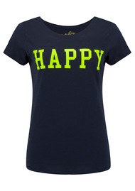 ON THE RISE Happy Tee - Navy