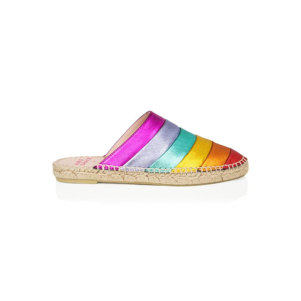 Mardi Gras Espadrilles - Rainbow