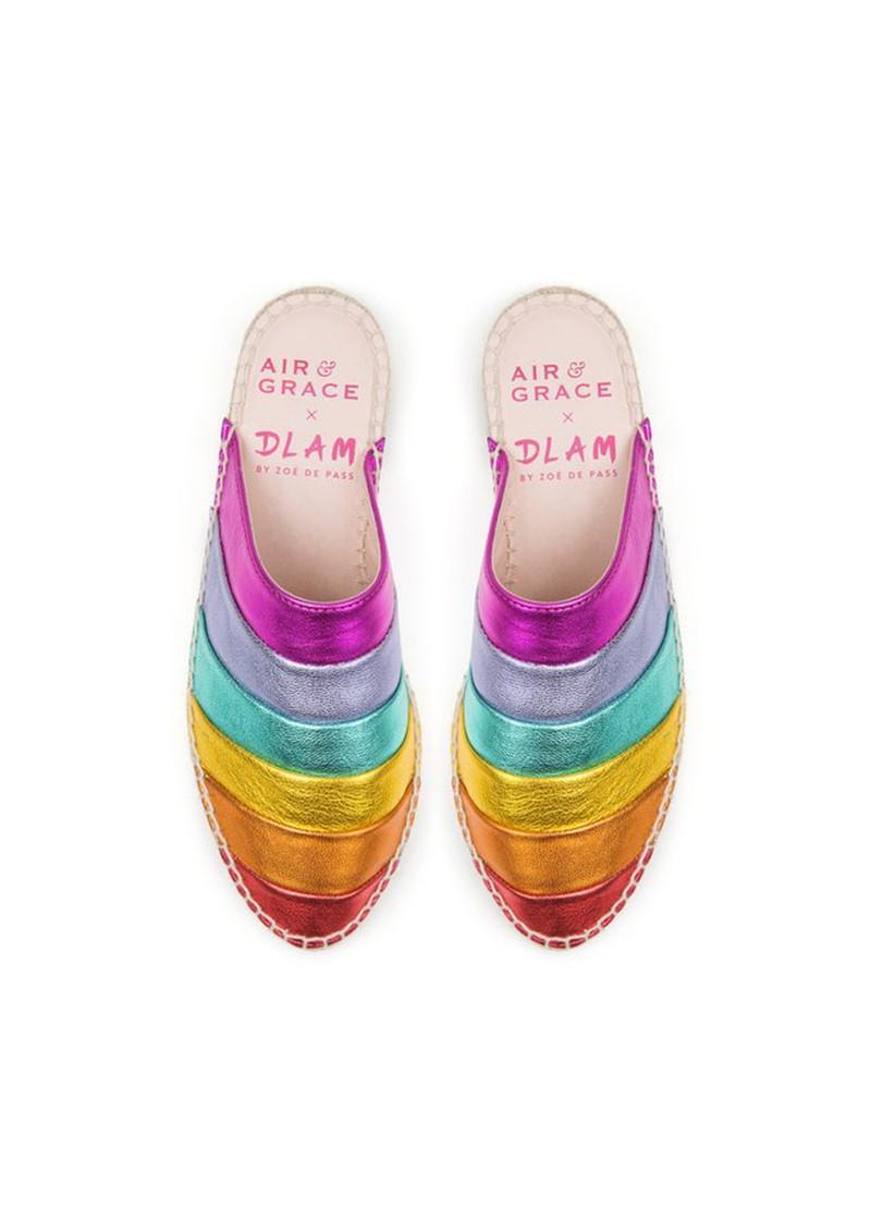 AIR & GRACE Mardi Gras Espadrilles - Rainbow main image