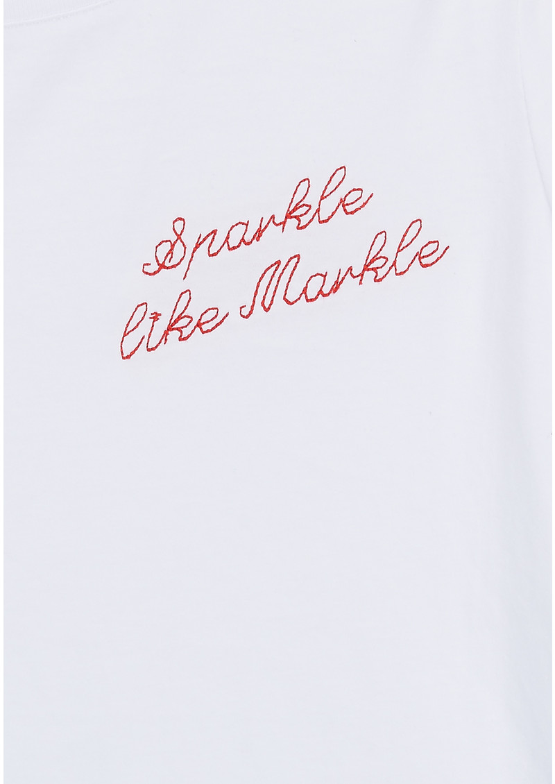 43f2621ecf AFINERTHREAD Sparkle Like Markle Tee - White   Red
