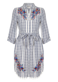 PK BERRY Liza Shirt Dress - Blue Stripe