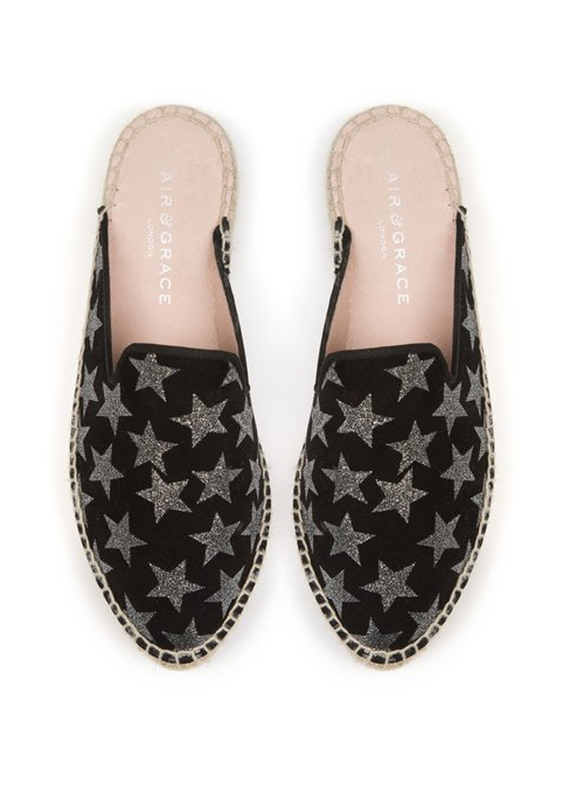 AIR & GRACE Souk Espadrilles - Black Star main image