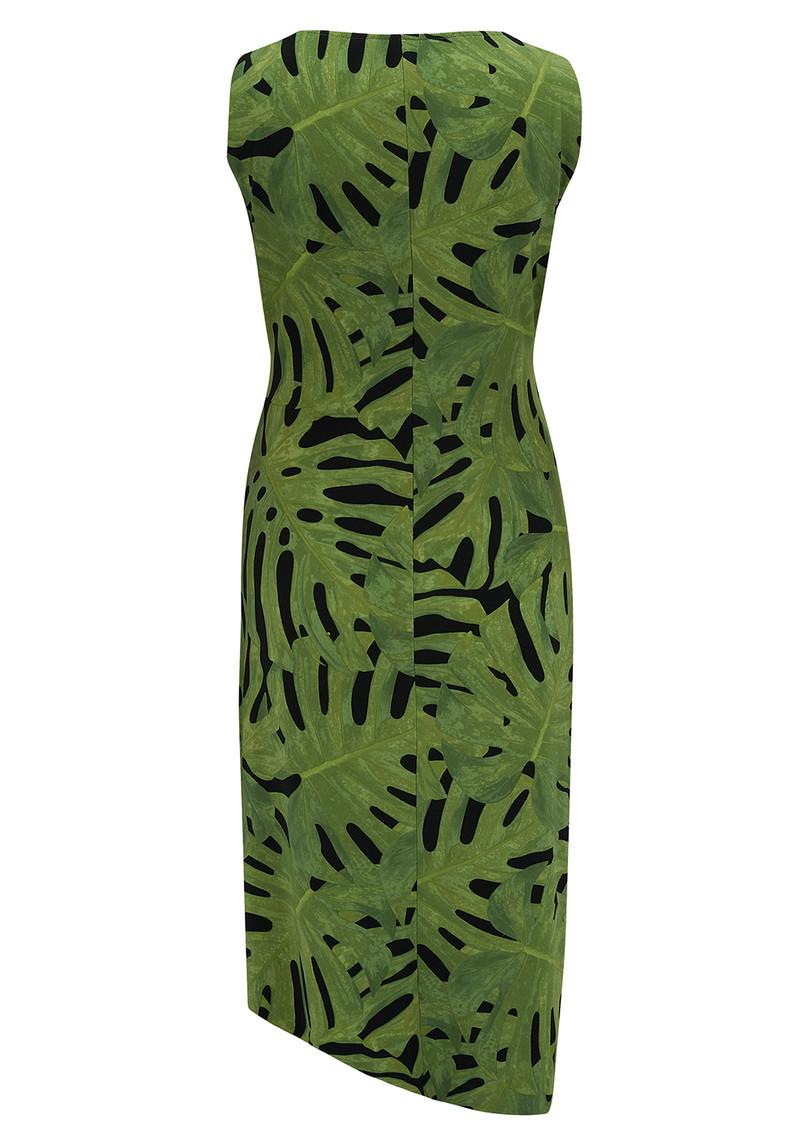 NORMA KAMALI V Neck Drape Dress - Fingerleaf main image