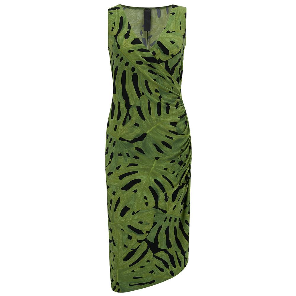 V Neck Drape Dress - Fingerleaf