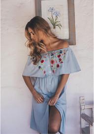 PAMPELONE Maddalena Dress - Blue