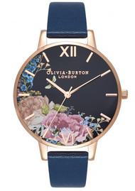 Olivia Burton Enchanted Garden Big Dial Floral Watch - Midnight & Rose Gold