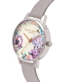 Olivia Burton Glasshouse Midi Dial Watch - Grey Lilac, Silver & Rose Gold