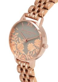 Olivia Burton Lace Detail Bracelet Watch - Grey & Rose Gold