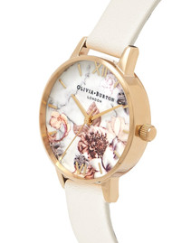 Olivia Burton Marble Florals Midi Dial Watch - Nude & Gold