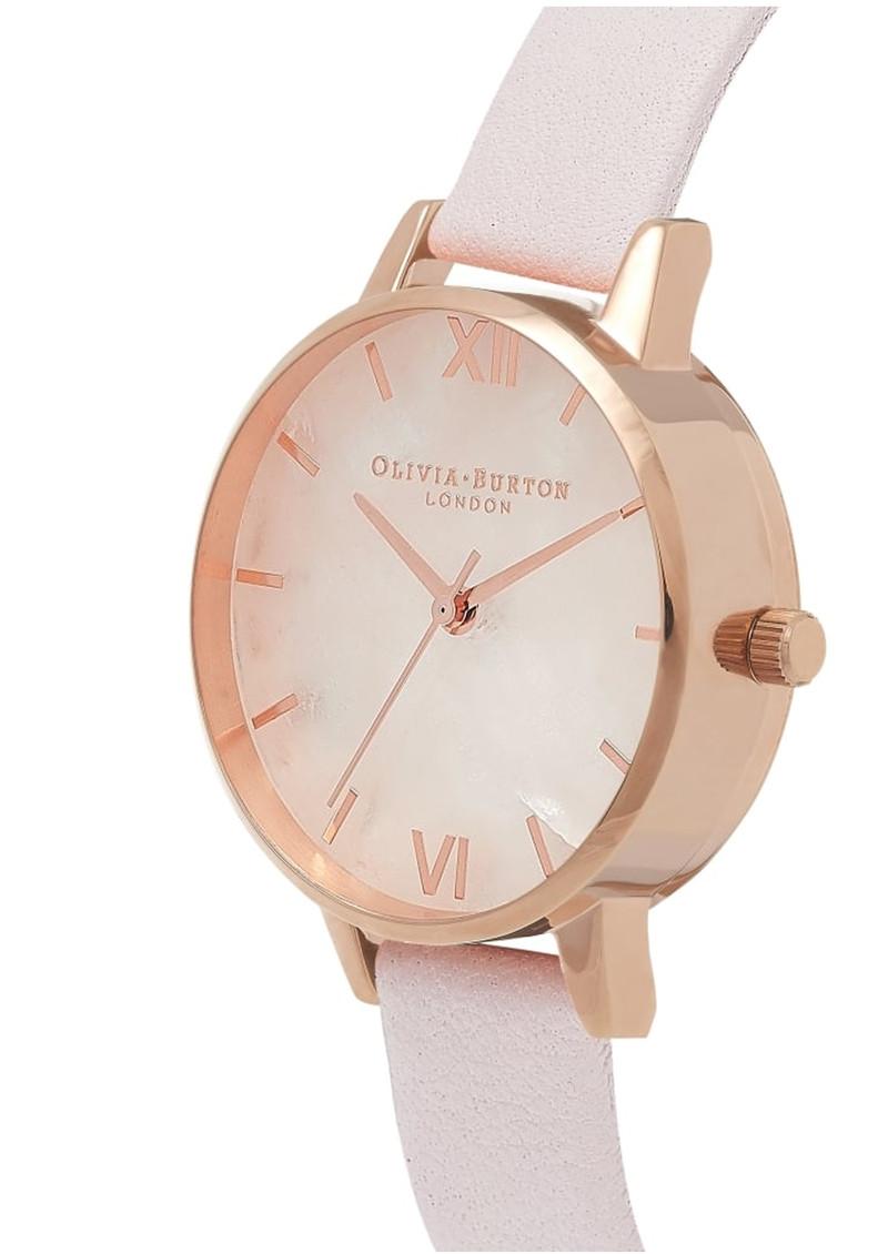 Olivia Burton Semi Precious Midi Dial Watch - Blossom & Rose Gold main image