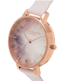 Olivia Burton Semi Precious Big Dial Watch - Blossom & Rose Gold