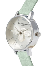 Olivia Burton Midi 3D Bee Watch - Sage & Silver