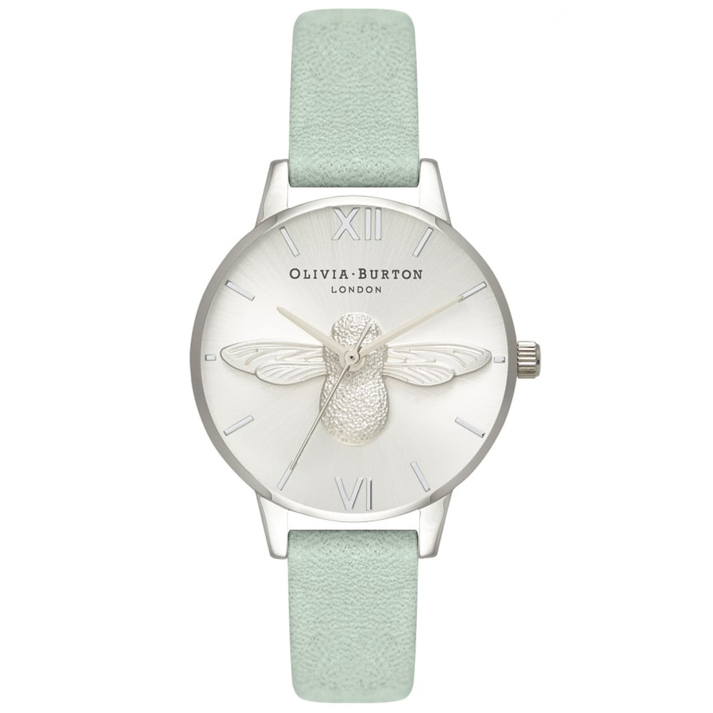 Midi 3D Bee Watch - Sage & Silver