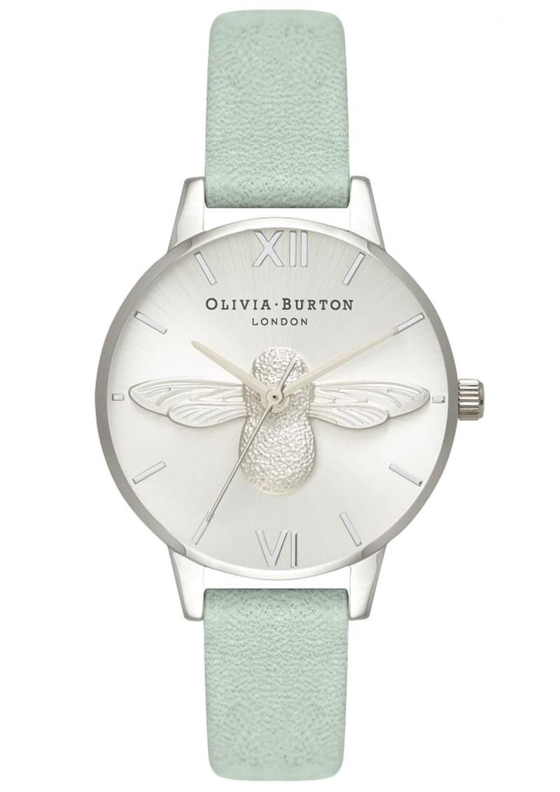 Olivia Burton Midi 3D Bee Watch - Sage & Silver main image