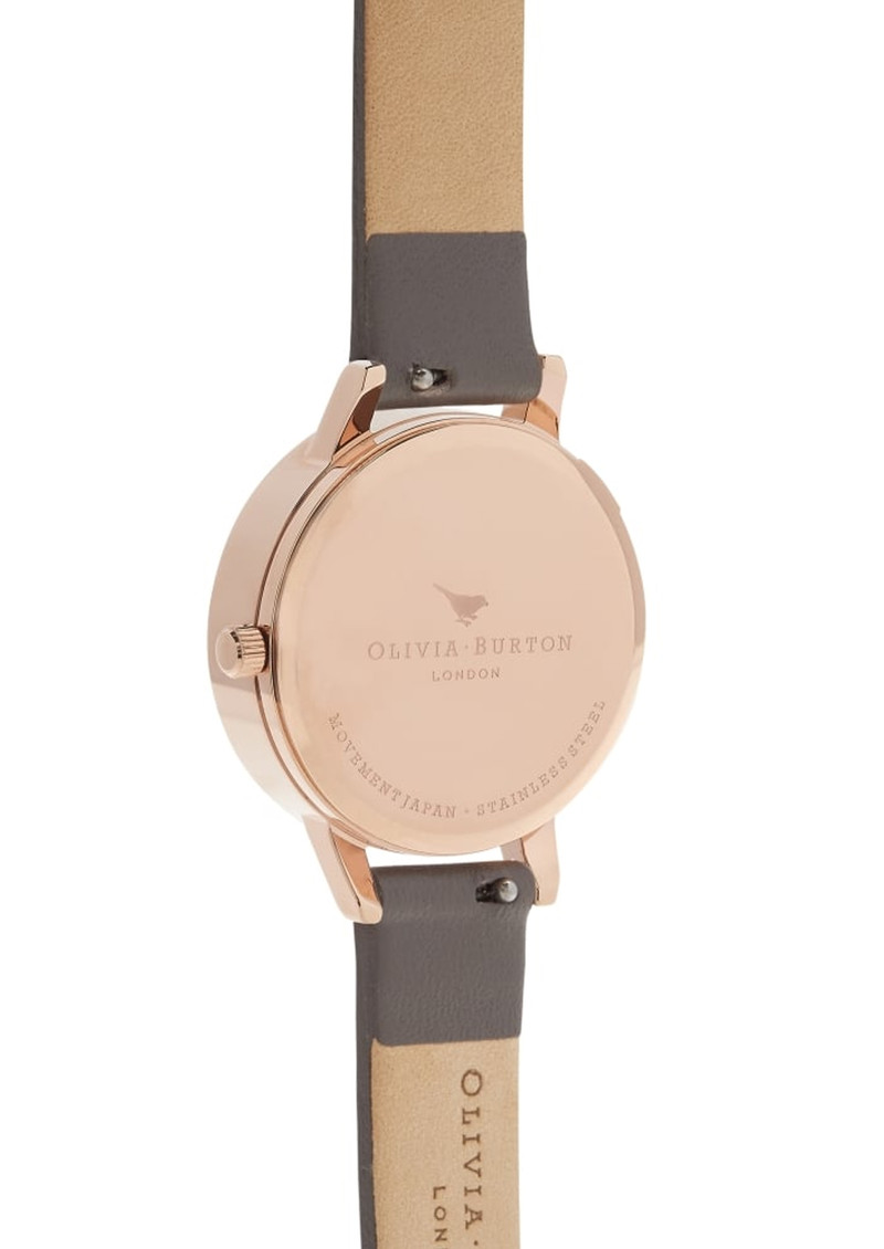Olivia Burton Midi 3D Grey Dial Bee Watch - London Grey & Rose Gold main image