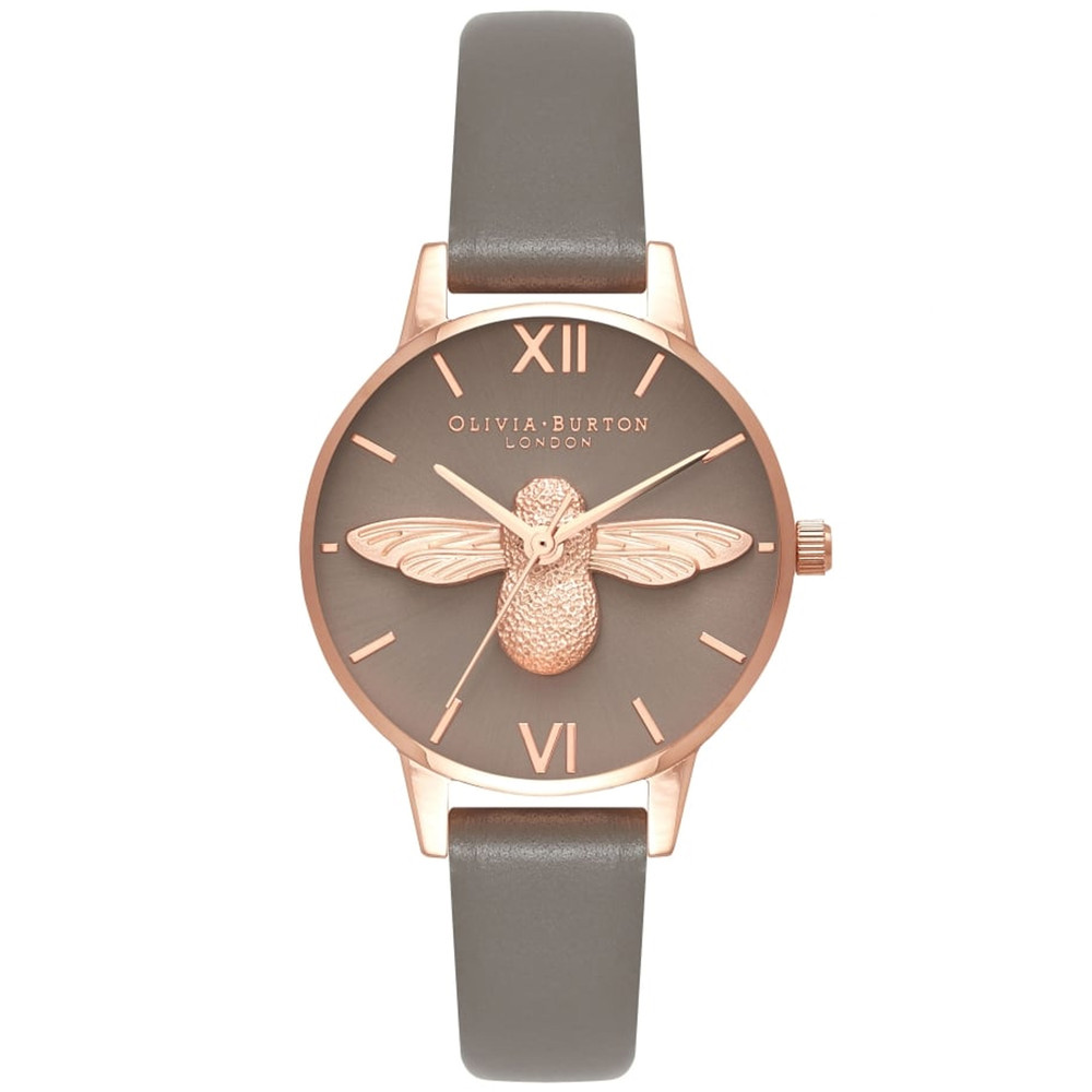 Midi 3D Grey Dial Bee Watch - London Grey & Rose Gold