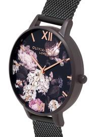 Olivia Burton Signature Florals Mesh Watch - IP Black