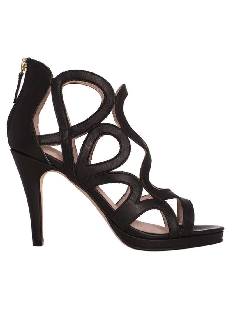 SARGOSSA Redefined Suede Heels - Black main image