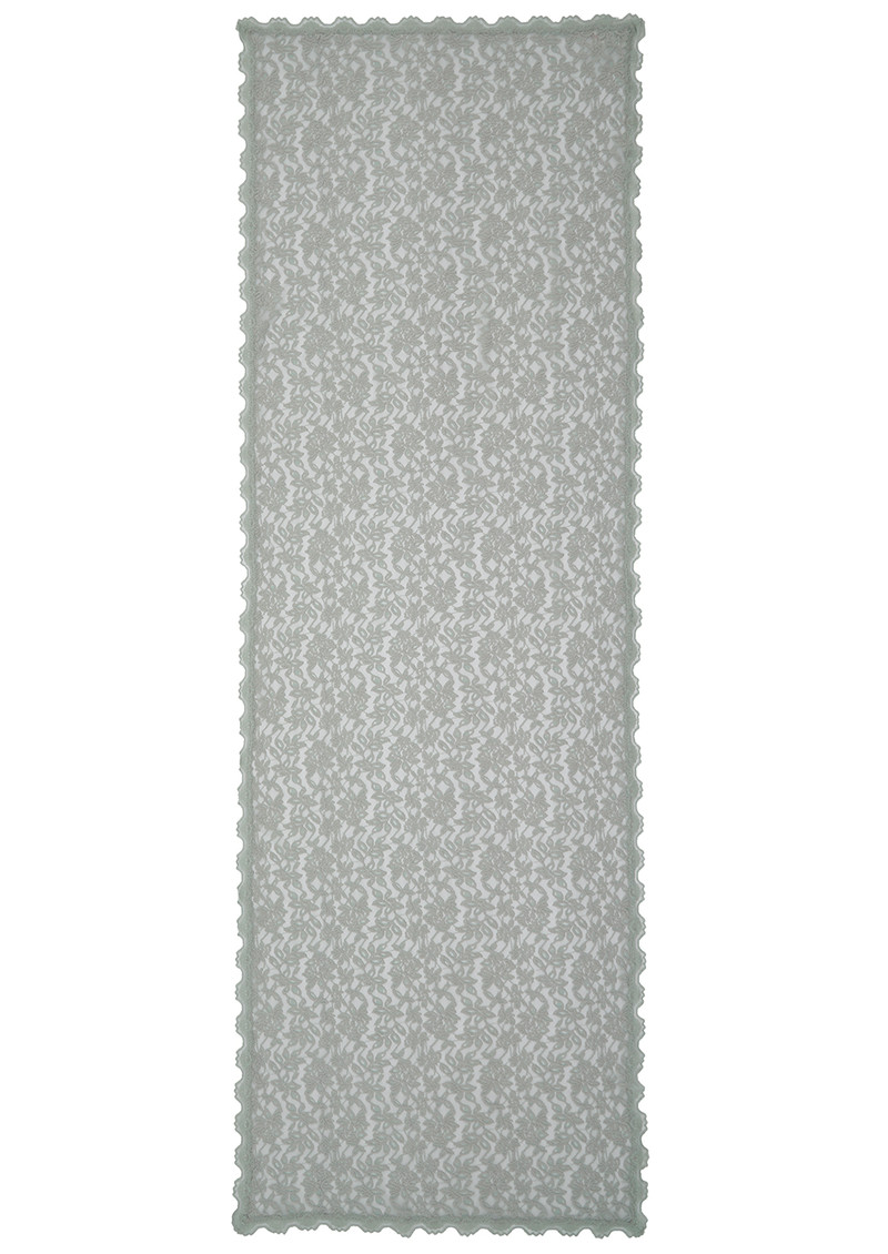 Rosemunde Delicia Lace Scarf - Cement Grey main image