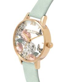 Olivia Burton Signature Florals Midi Dial Watch - Sage & Gold