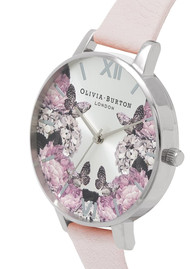 Olivia Burton Signature Florals Big Dial Watch - Blush & Silver
