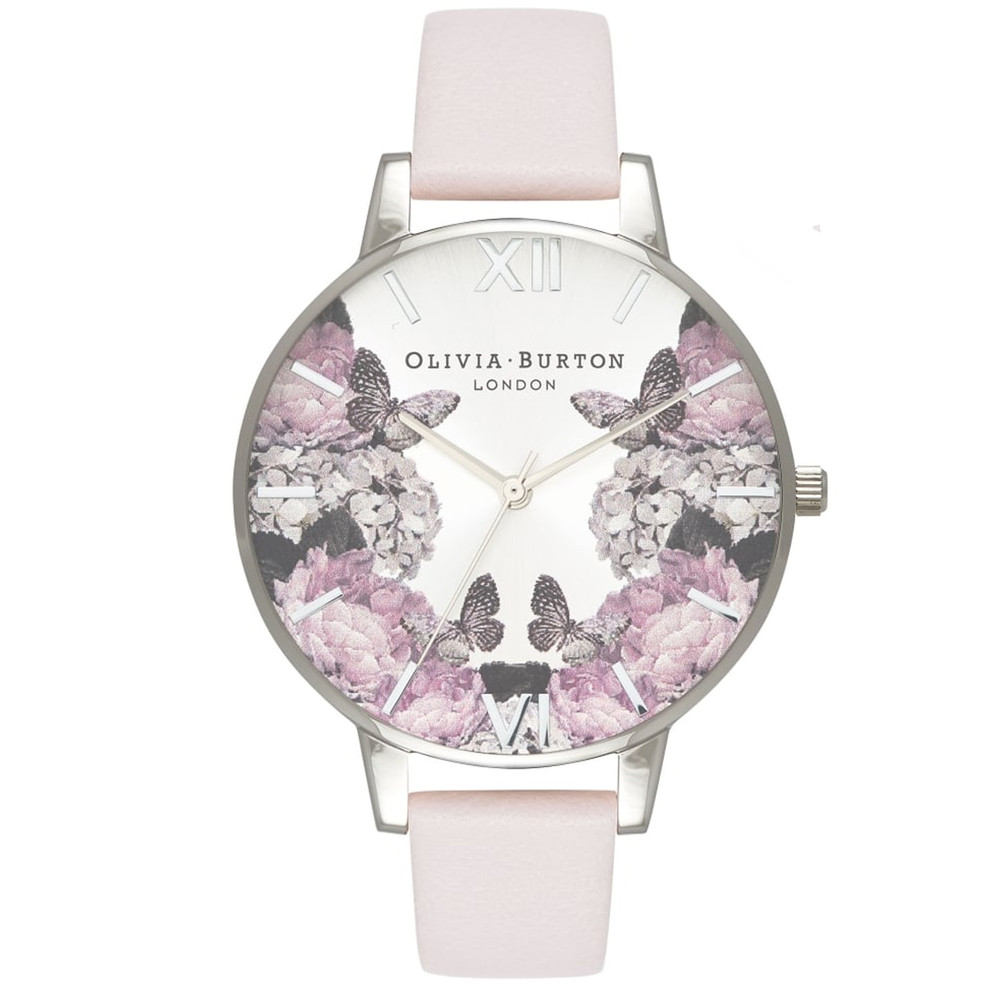 Signature Florals Big Dial Watch - Blush & Silver