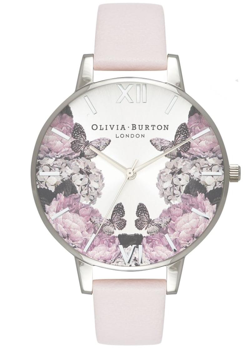 Olivia Burton Signature Florals Big Dial Watch - Blush & Silver main image