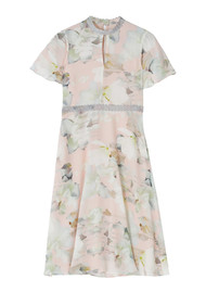 ETHEREAL Portia Printed Dress - Blush