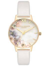 Olivia Burton Watercolour Florals Midi Dial Watch - Blush & Gold