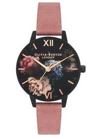 Olivia Burton After Dark Midi Dial Watch - Rose Suede & Matte Black