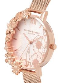 Olivia Burton Case Cuff Mesh Watch - Rose Gold