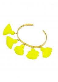 MARTE FRISNES JEWELLERY Raquel Tassel Bangle - Neon Yellow