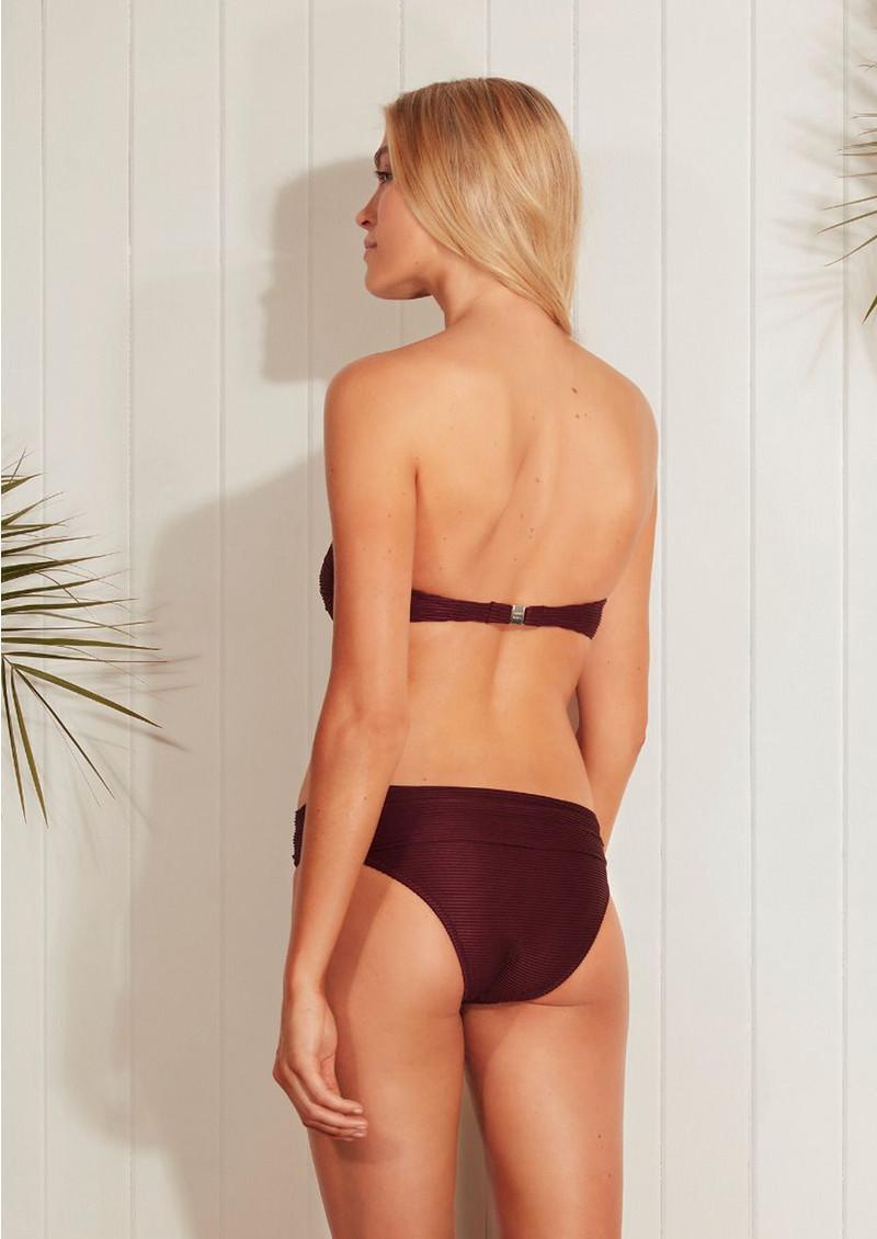 7805bbd7743b7 HEIDI KLEIN Monaco V Bar Bandeau Bikini Top - Burgundy