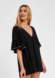 PITUSA Ruffle Sleeve Dress - Black