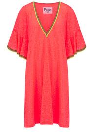 PITUSA Ruffle Sleeve Dress - Watermelon